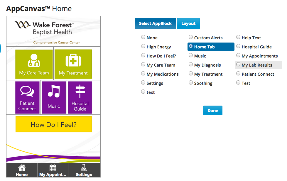Use a Home Tab When Building Your Branded Hospital App