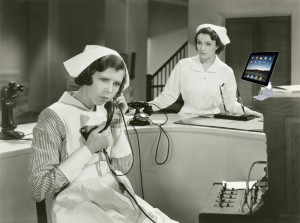 vintage-nurse-talking-on-the-phone-300x223