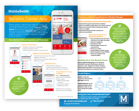Download the datasheet to learn more about your custom bariatric app - functionality, user engagement strategies, agile development, and more!