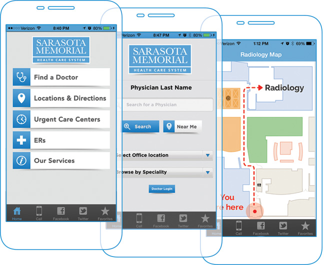 Hospital Wayfinding Apps - Sarasota Memorial