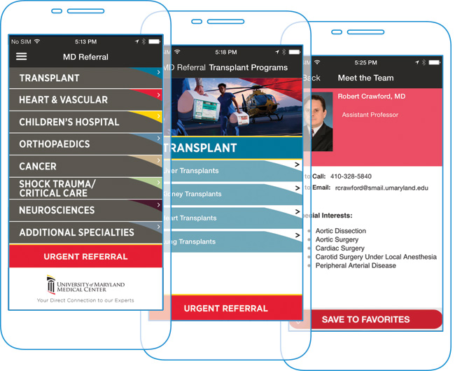 Physician Referral Apps - UMMC MD Referral