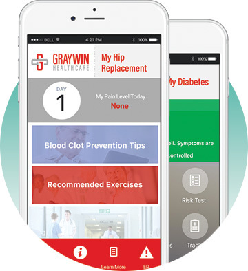 Graywin Branded App - hip replacement and diabetes