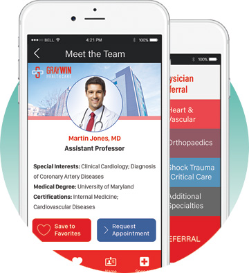 Graywin Branded App - referral and physician collective