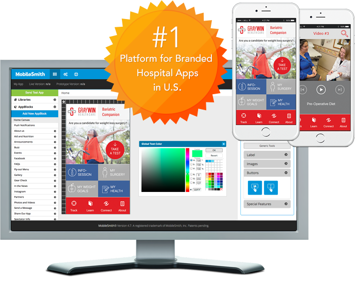 MobileSmith - #1 Platform for Branded Hospital Apps in U.S.