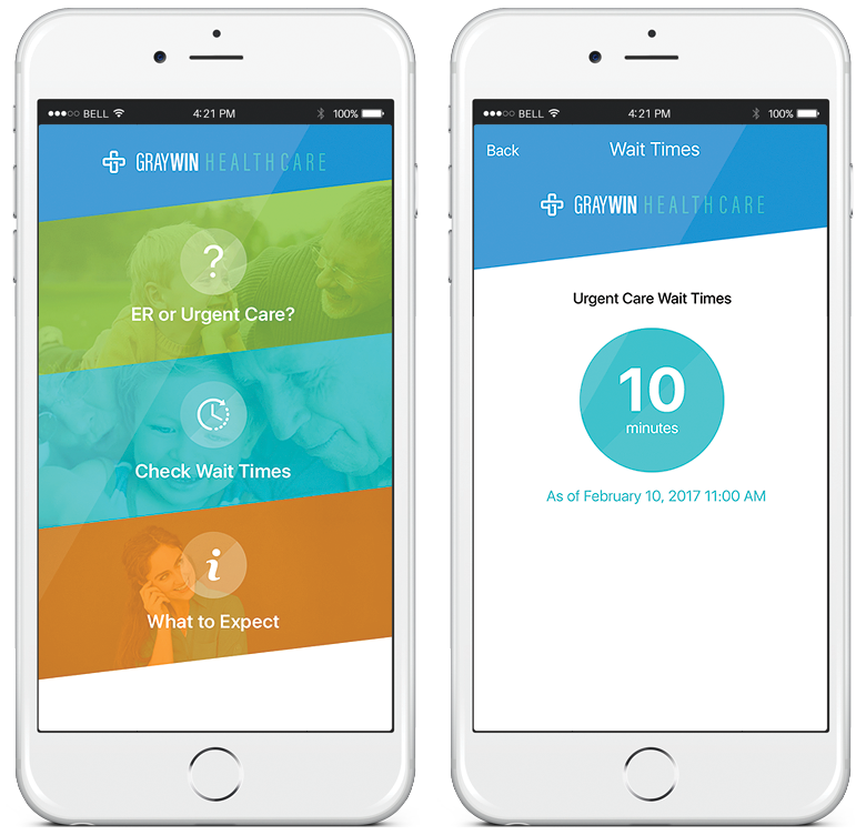 urgent care app blueprint