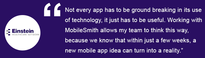 Mobilesmith changing healthcare one app at a time why mobilesmith malvernweather Images