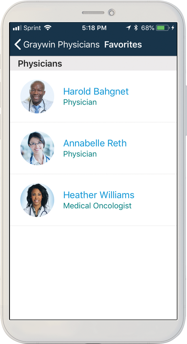 Physician directory app